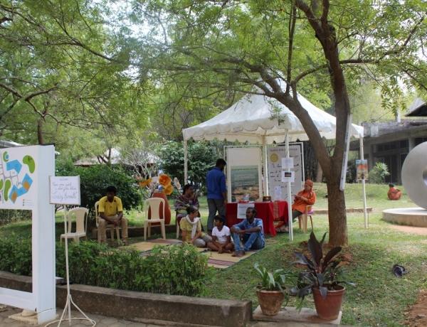New Auroville Land information Kiosk set up at the Visitors Centre!