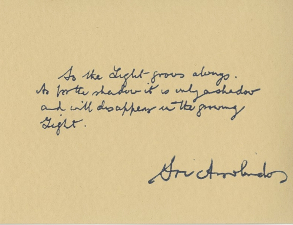 Sri Aurobindo's Message to America